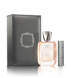 Jul et Mad Stilettos on Lex Luxury Gray Leather Case buy at Pure Calculus of Perfume